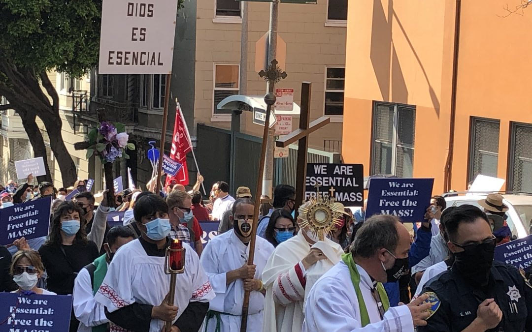 Right to Worship Restored in San Francisco following Protest to Free the Mass